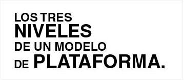Los tres niveles de un modelo de plataforma